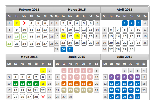 Calendario Escolarizado 2015