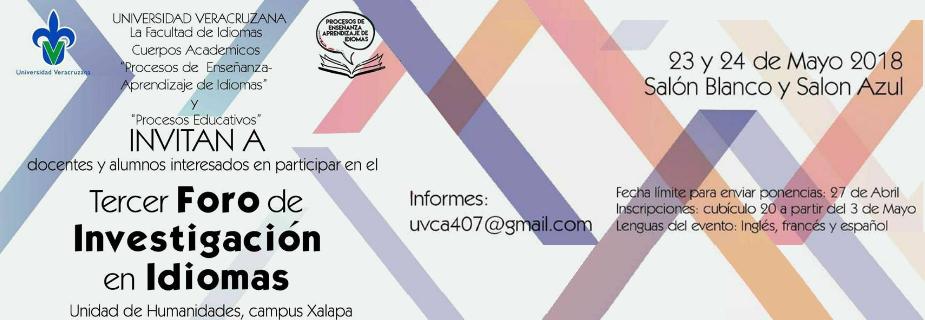 Banner: III foro de investigación en idiomas 2018.