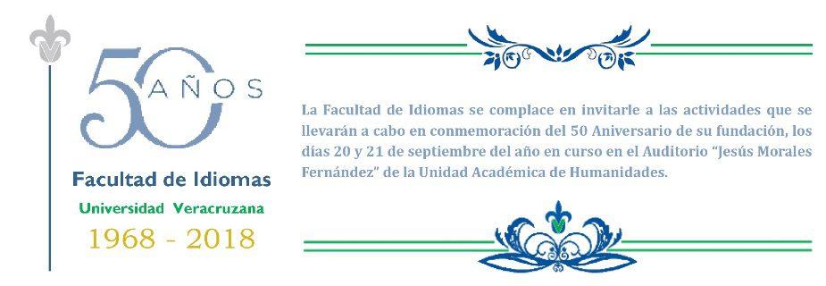 Banner: 50 aniversario facultad de idiomas