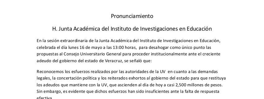 Pronunciamiento IIE