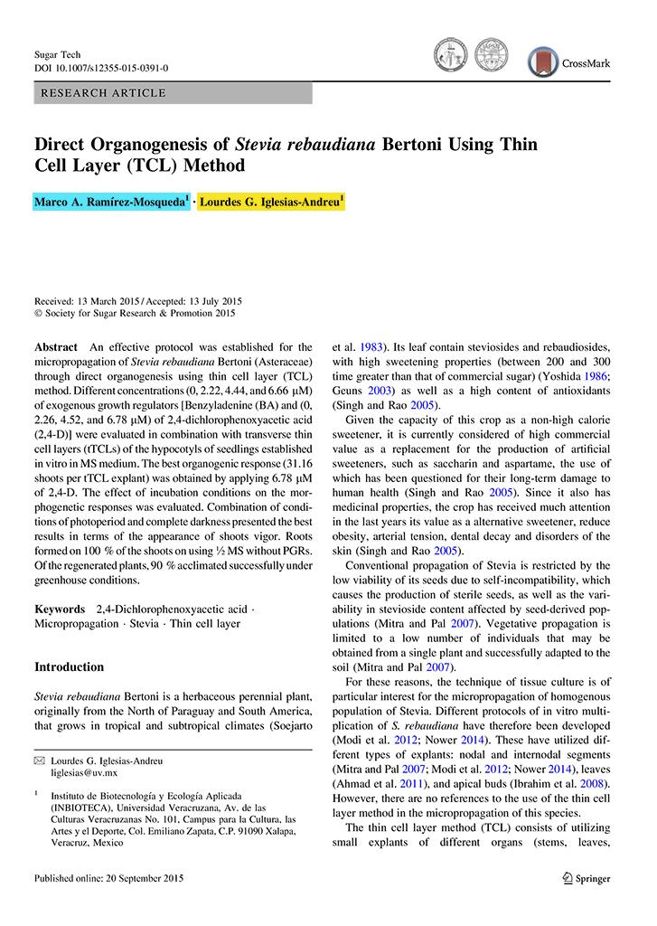 Artículos Científicos 2015 - Instituto de Biotecnología y