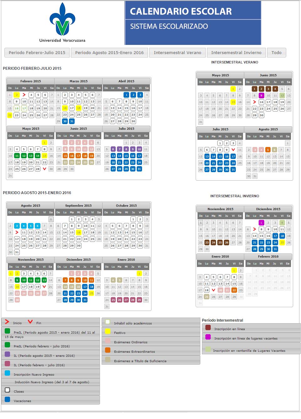 Aviso: Calendario escolar UV 2015 - Seguridad de la información