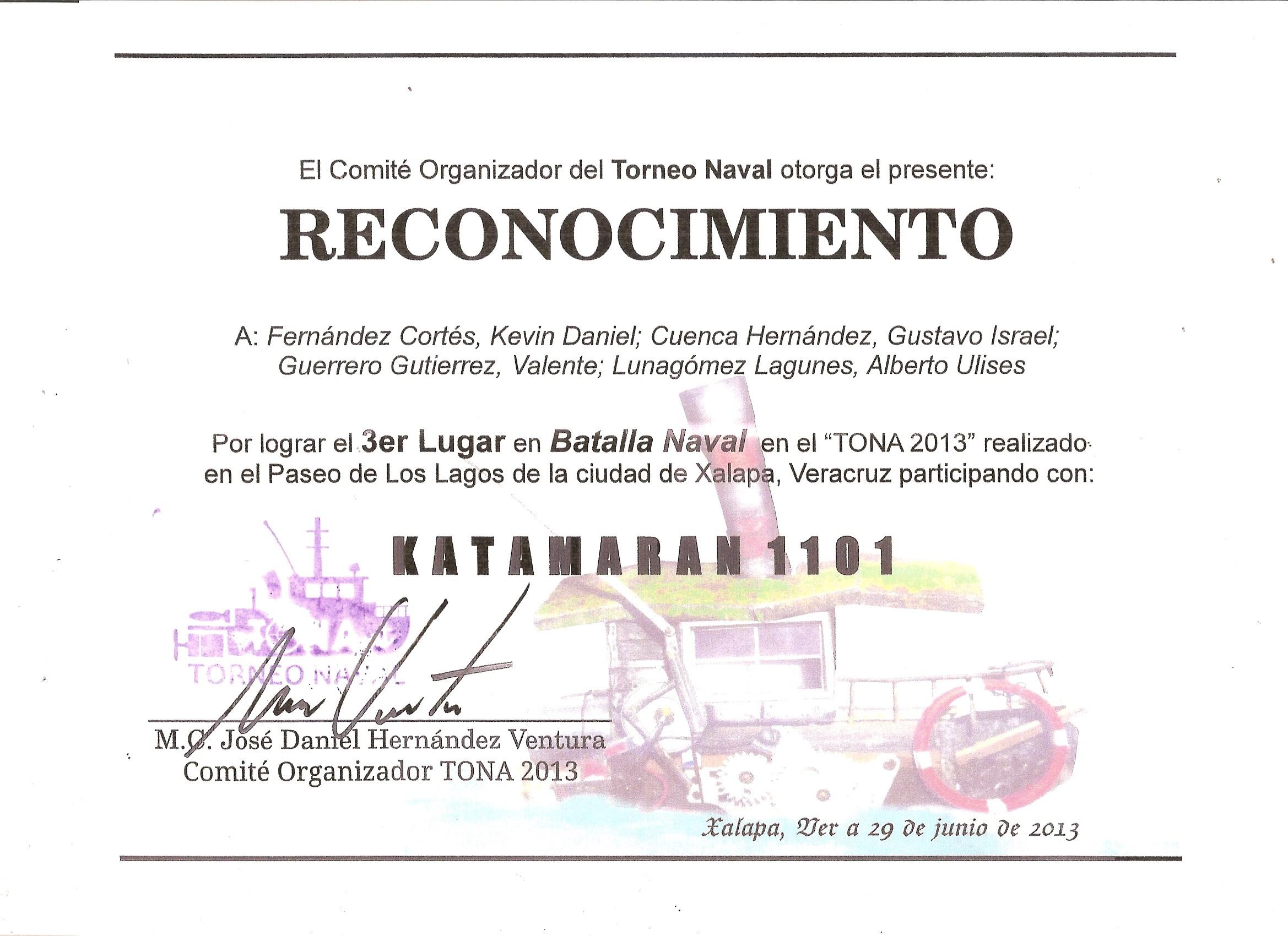 """Tercer Lugar """"TORNEO BATALLA NAVAL 2013"""" - Facultad de ..."""