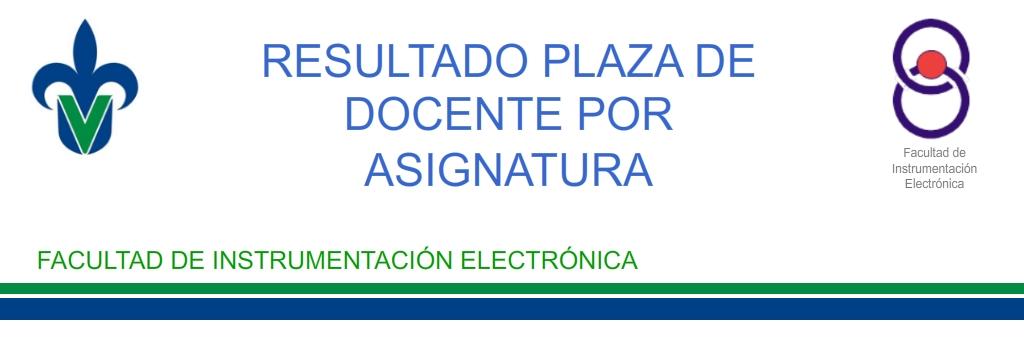 Resultados de plazas de docente por asignatura facultad for Plazas de docentes 2016
