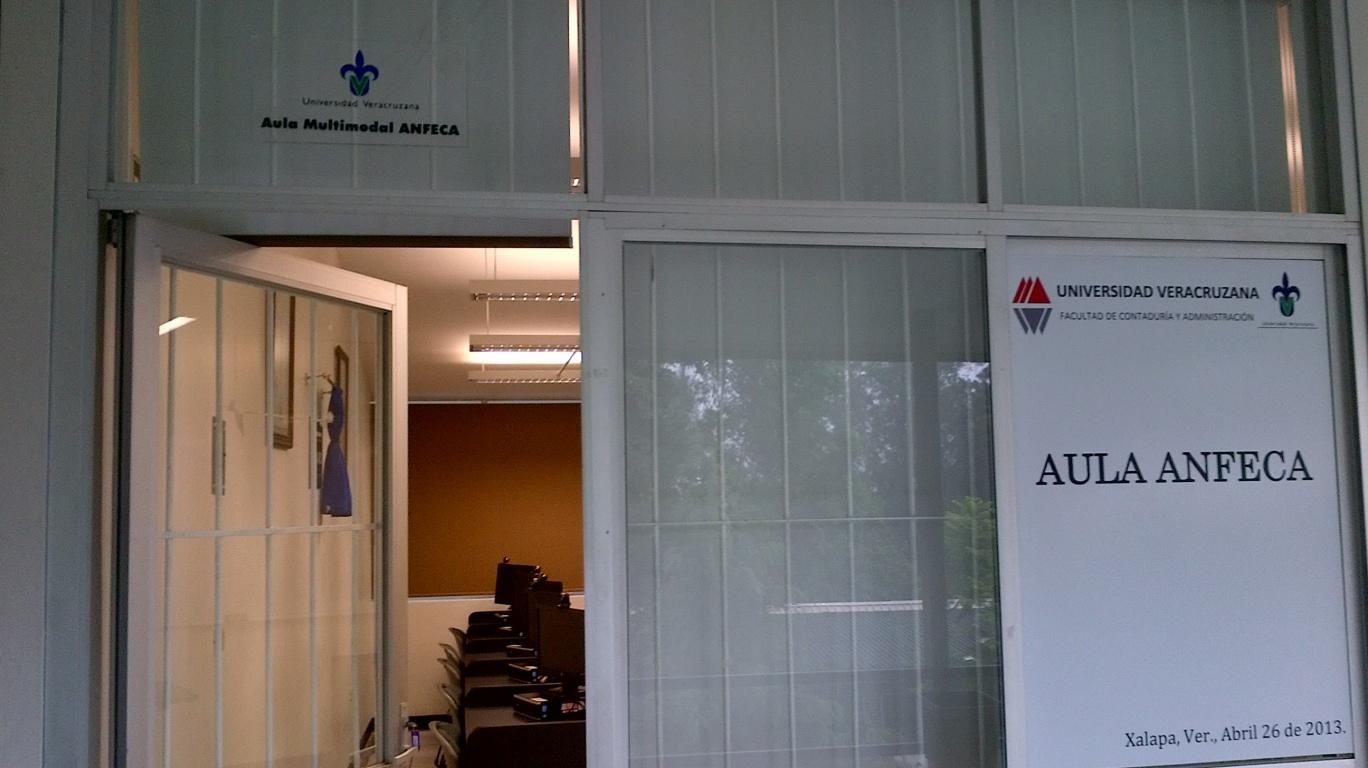 Entrada del Aula Multimodal ANFECA