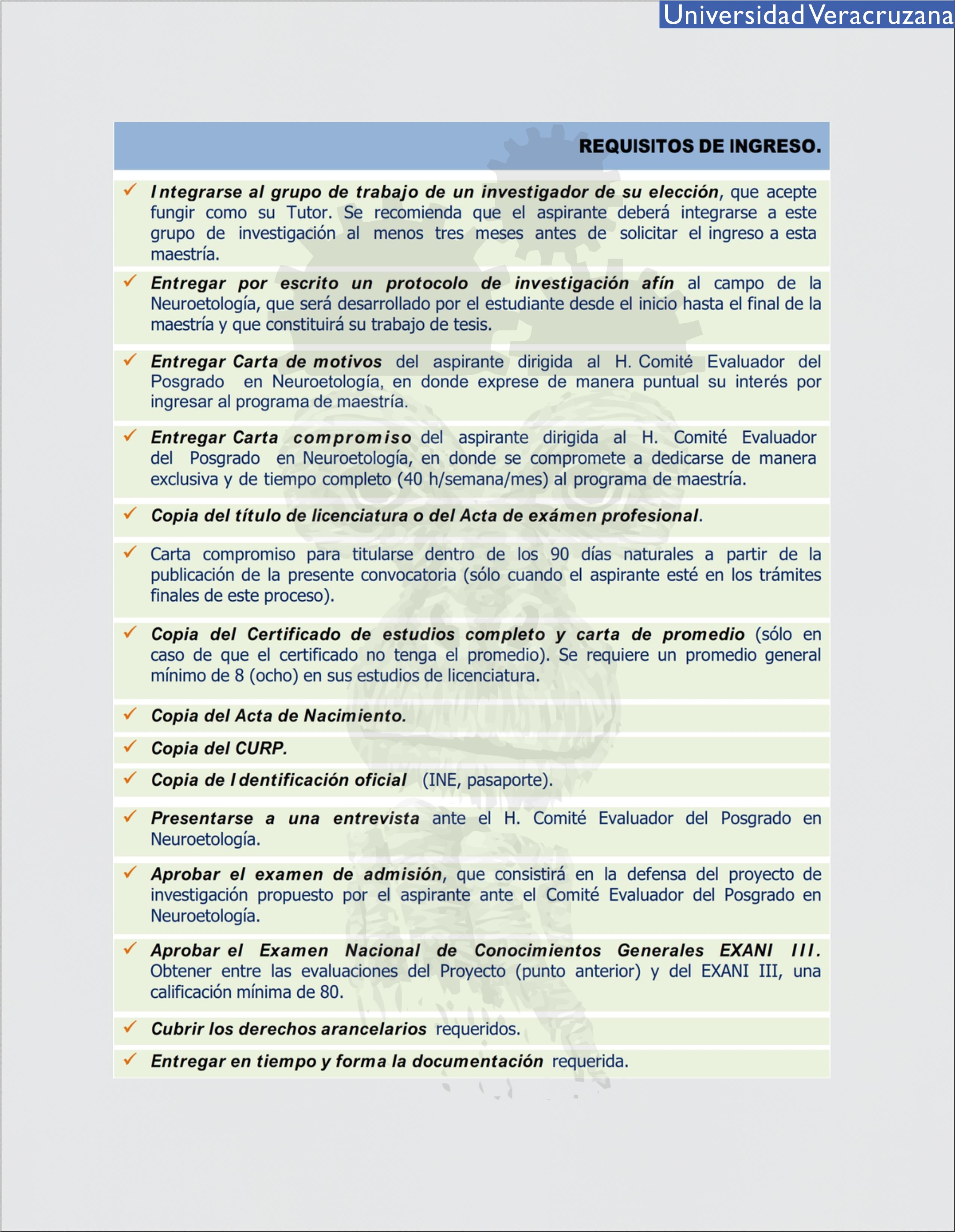 1. requisitos - Maestría en Neuroetología