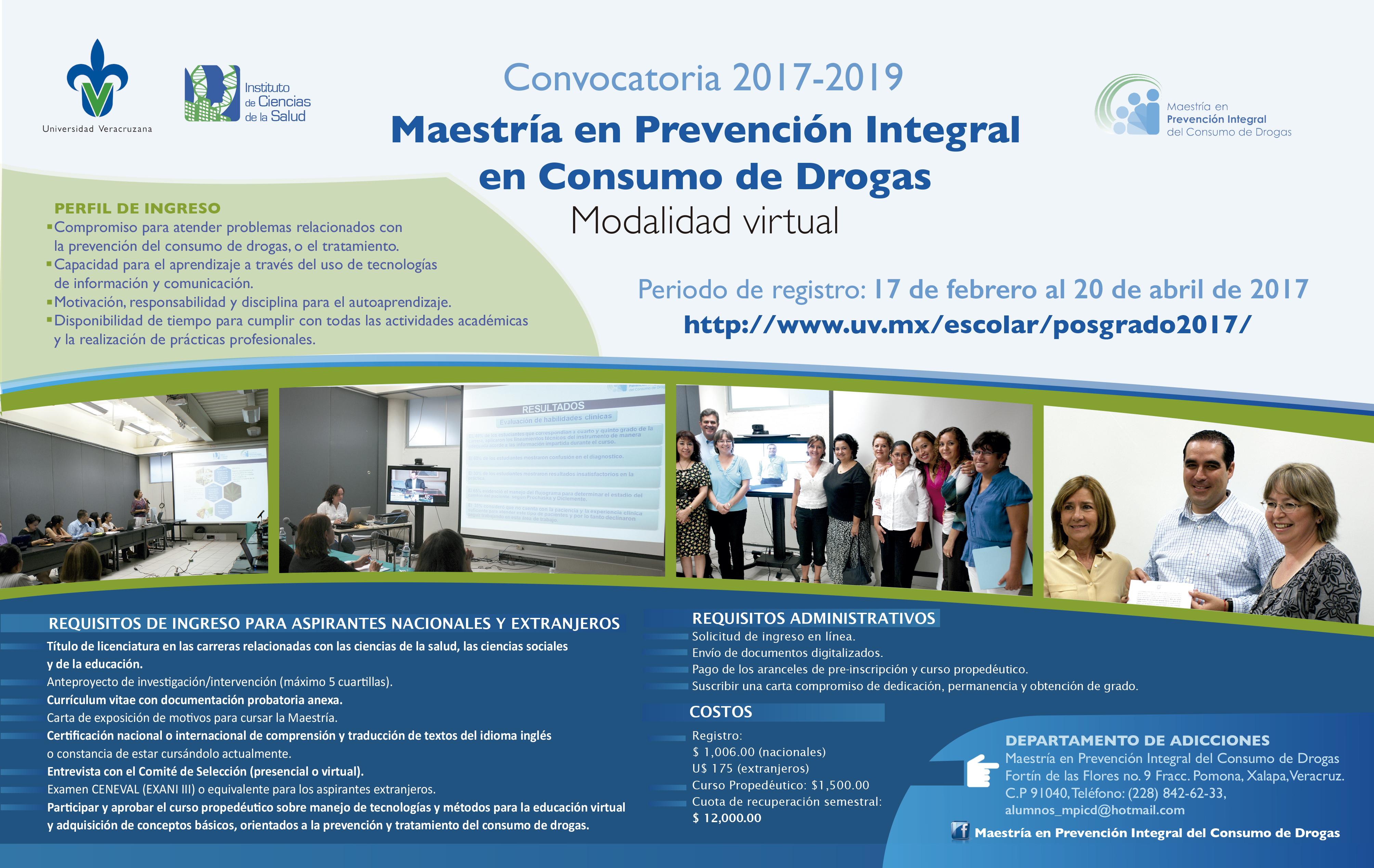 Uv Convocatoria 2019: Maestría En Prevención Integral