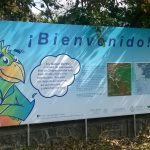 Cartel de bienvenida Parque Lineal Quetzalapan-Sedeño