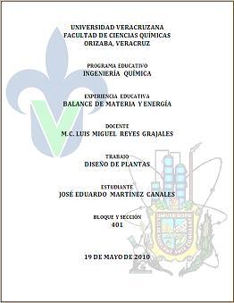 Hojas De Presentacion Facultad De Ciencias Quimicas Orizaba