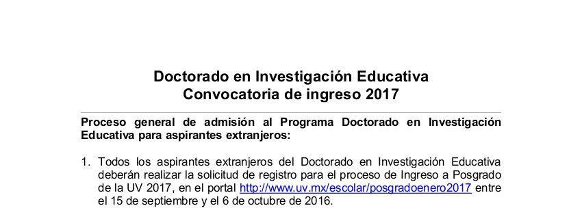 convocatoria internacionales DIE 2017_15 SEP 2016