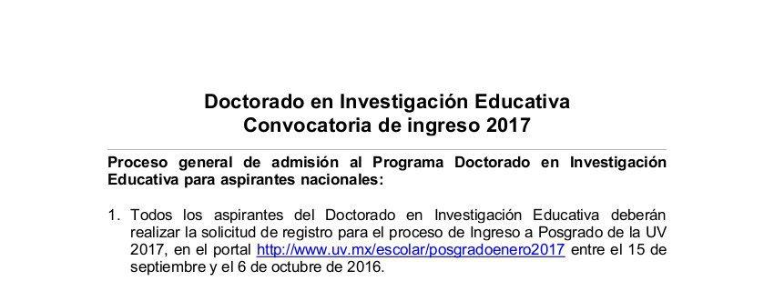 convocatoria nacionales DIE 2017_15 SEP 2016