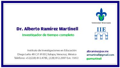 121d7182eaf9a Tarjetas de presentación IIE-UV Dr. Alberto Ramirez Martinell ...