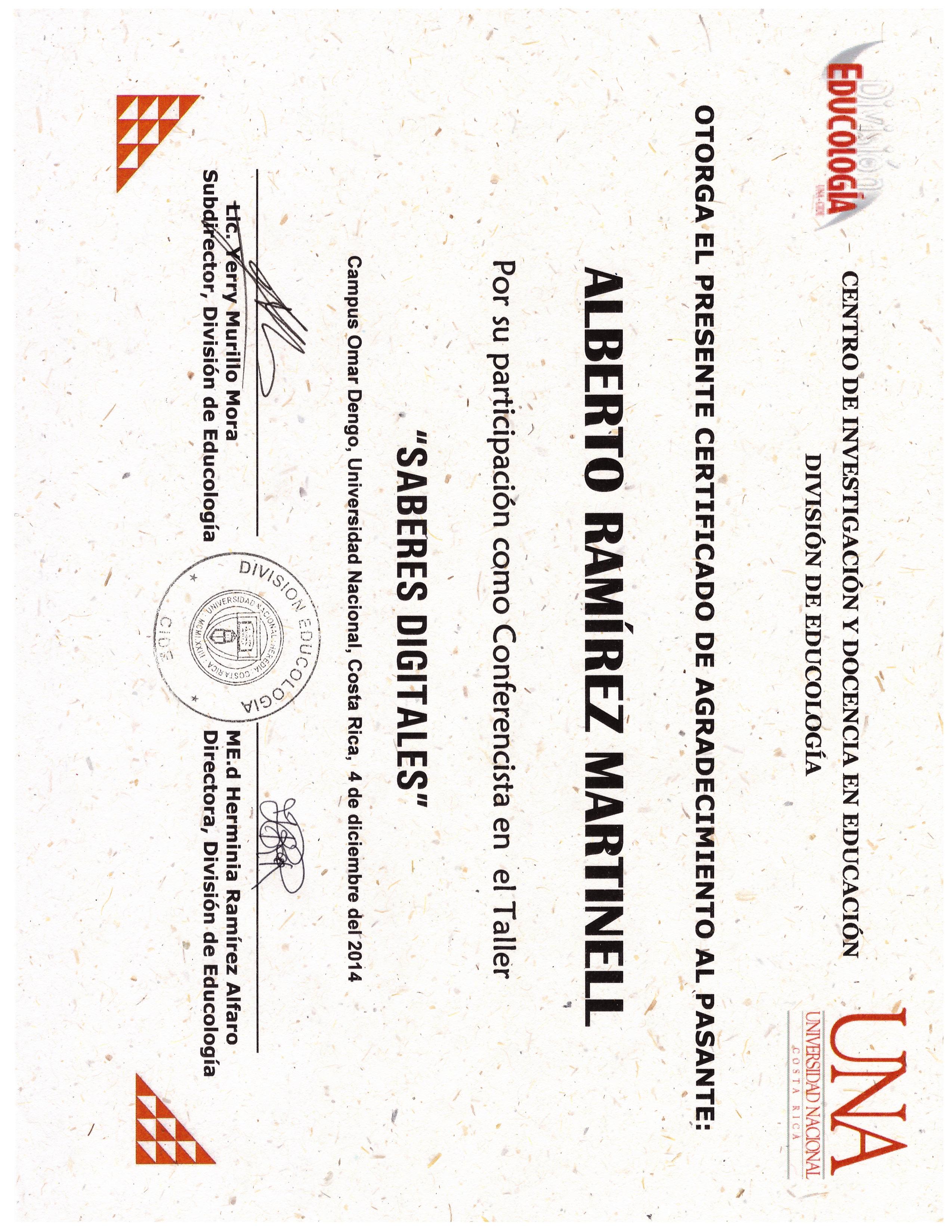 Publicaciones Dr. Alberto Ramirez Martinell - Universidad Veracruzana
