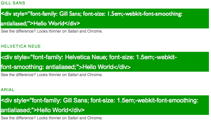 Stop fonts looking bold on Mac Browsers Mtro  Guillermo