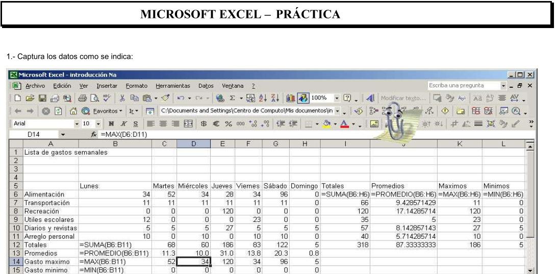 o. funciones basicas en hoja de cálculo - 1 Tics Syllabus