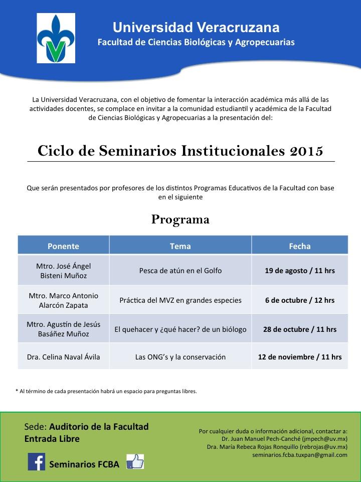 Seminarios institucionales FCBA 2015-2-