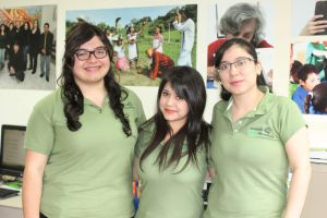 Lizeth Almanza Colorado, Laura Leticia Castañeda Landa y Ana Nohemí Figueroa Fernández.