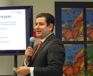 Sergio Gabriel Aguilar, del Instituto Mexicano de la Propiedad Intelectual.