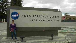 Sonia Gamboa Vázquez, estudiante de Ingeniería Industrial de la UV, desarrolla una investigación en el Ames Research Center de la NASA, en San José, California.