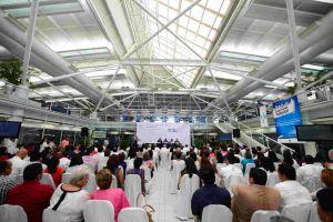 El Consejo Universitario Regional sesionó en el patio central de la USBI del campus Mocambo.