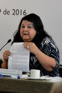 Clementina Guerrero García presentó el punto de acuerdo ante los consejeros