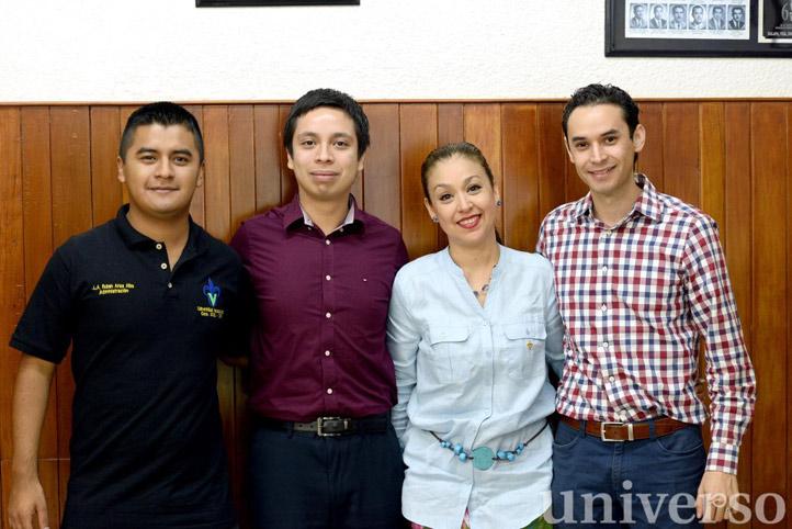 Rubén Arias, Miguel Ángel Jiménez, Patricia Arieta y César Augusto Mejía
