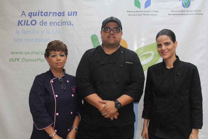 Dolores Sánchez, Hilmar Armenta y Danaé del Valle