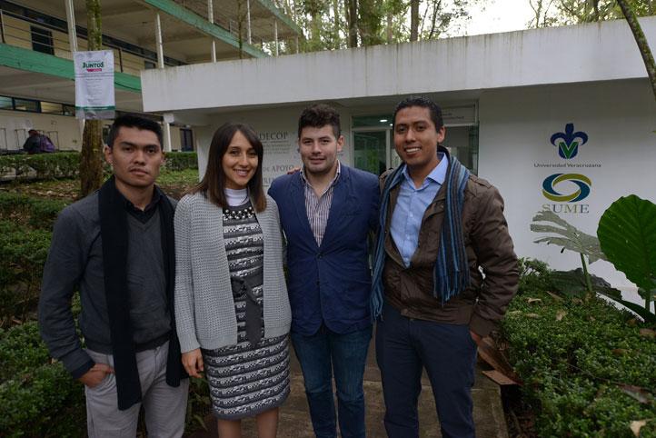 Oshman Seth Escudero, Maridalia Ladrón de Guevara, Cristian Francisco Hernández y Josué Daniel Saldaña