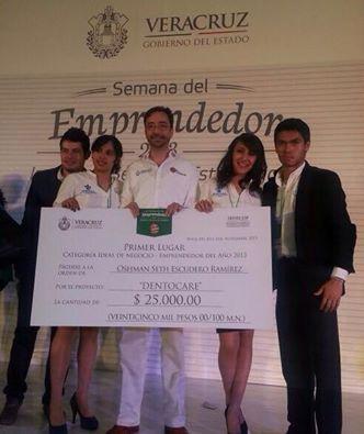 Los jóvenes obtuvieron el premio Emprendedor del Año 2013