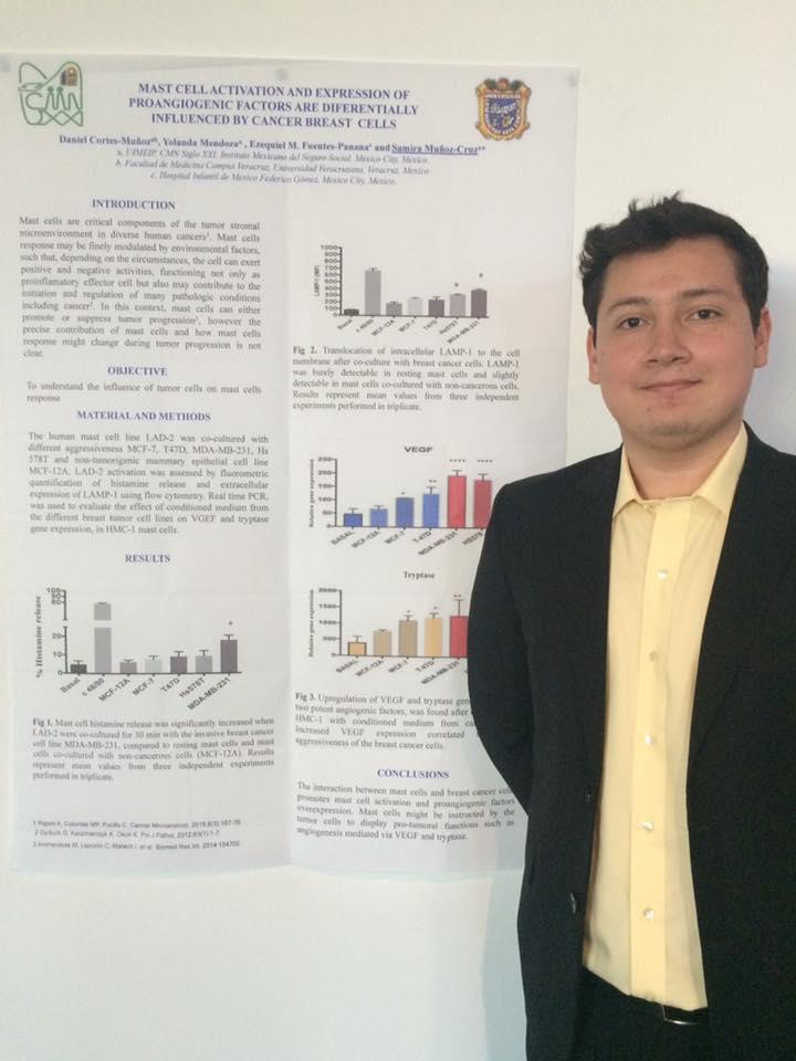 Daniel Cortés Muñoz fue el único mexicano que expuso en la Conferencia de Mastocitos en Bulgaria
