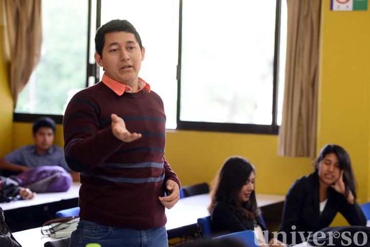 José Alberto González, estudiante del cuarto semestre, agradeció la confianza otorgada