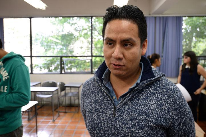 Maximiliano Bautista Camacho, estudiante de octavo semestre de la licenciatura
