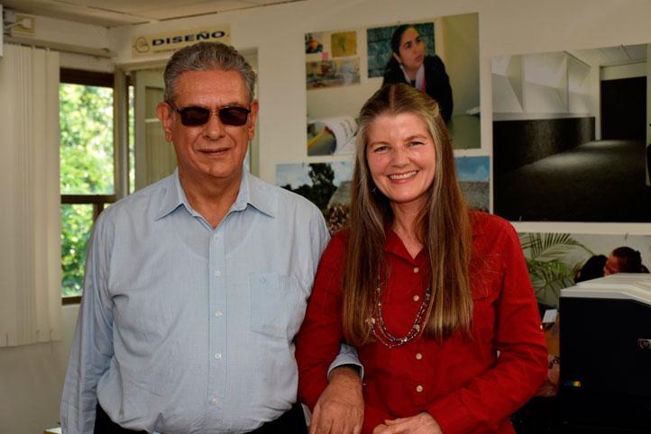 Pepe González y Sandra Lohr
