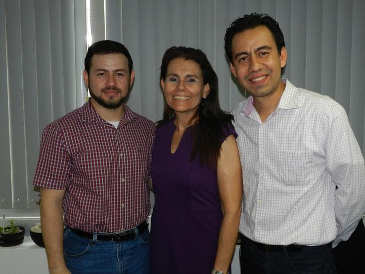 Martín Hernández, Martha Castro y Juan Carlos Fernández