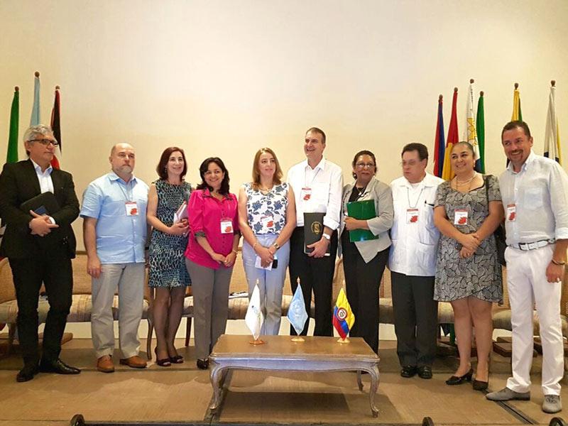 """Rectores participantes en el marco del IV Foro Regional ORSALC """"Responsabilidad Social Territorial. Tendencias en América Latina y el Caribe"""""""