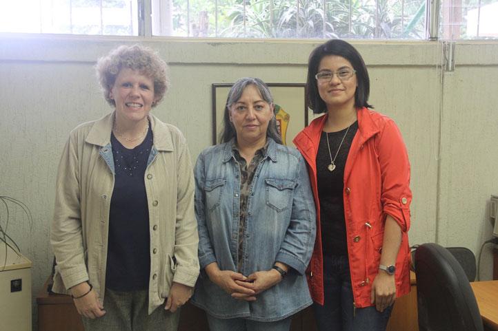 Virginia Mateu, Yolanda Romero y Dennicé González