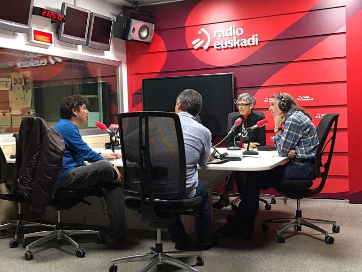 Durante la entrevista para Radio Euskadi