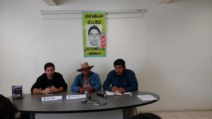 John Gibler, Bernabé Abrajám y Oliver Coronado
