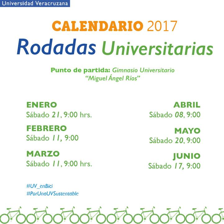 El sábado 21 de enero se realizará la primera Rodada Universitaria de 2017
