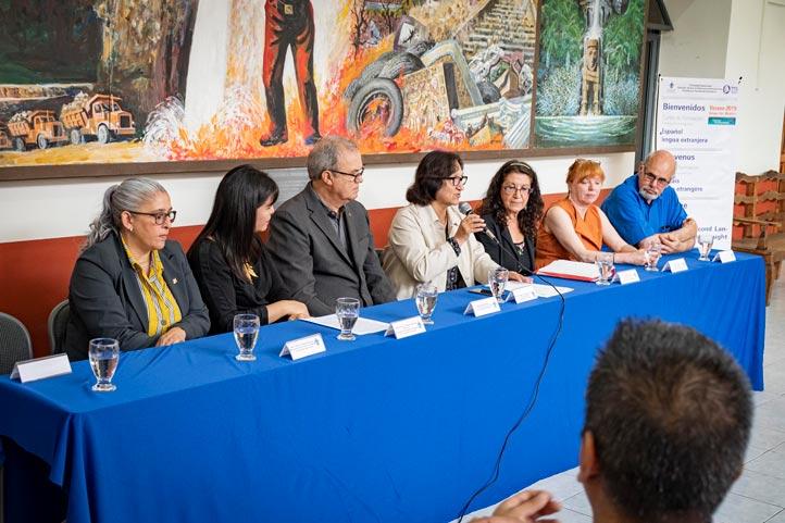 Magdalena Hernández, secretaria Académica de la UV, dio la bienvenida a los profesores de la Universidad de Québec