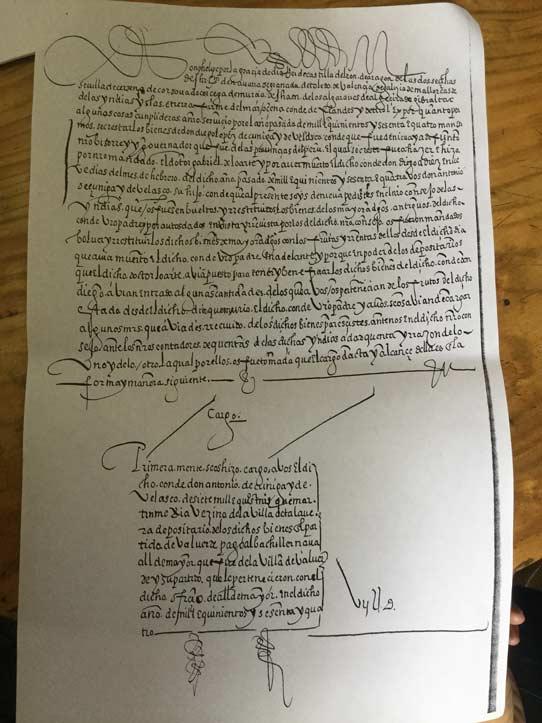 Letra de Felipe II (del Archivo Claustro de Sor Juana)