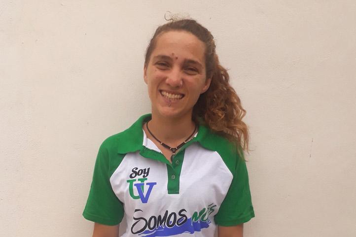 Celeste Irupé Brauer Larraburu, originaria de Argentina, cursa la Licenciatura en Biología Marina