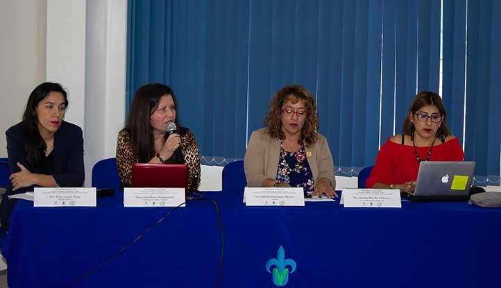 Érika Cortés, Sonia Mireya Betancourth, Maribel Domínguez y Martha Ruíz