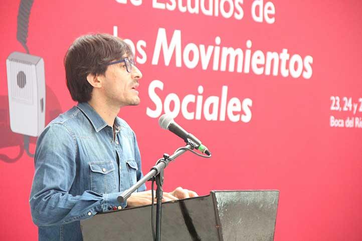 El sociólogo intervino en el 2° Congreso de Estudios de los Movimientos Sociales