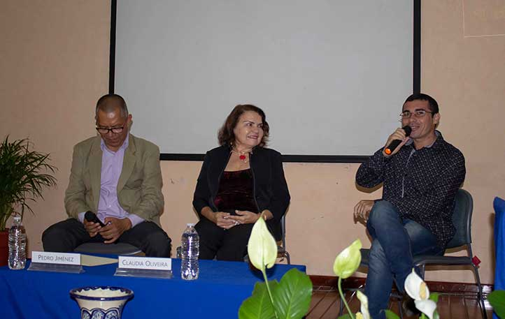 Pedro Jiménez, Cláudia Oliveira y Sebastian Lacerda
