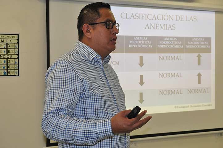 Emmanuel Hernández González señaló la importancia de la biometría hemática en los exámenes prenupciales