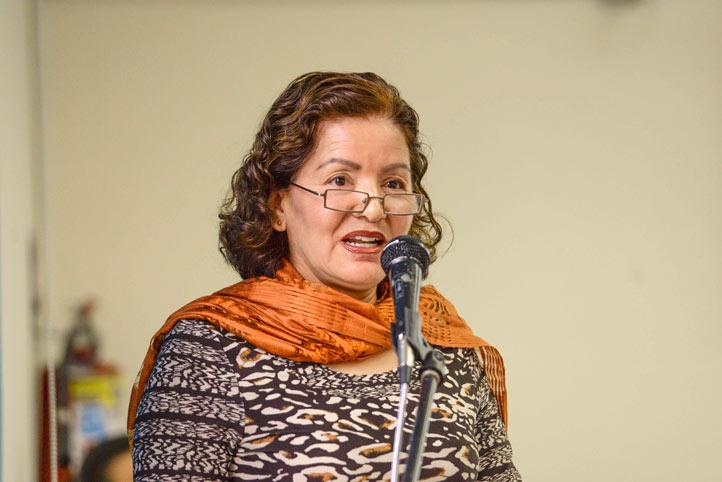 María Ramírez Salazar, directora de la Facultad de Economía, dio la bienvenida a los asistentes