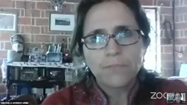 Verónica Moreno, académica de la Facultad de Antropología, habló sobre el trabajo de cuidados