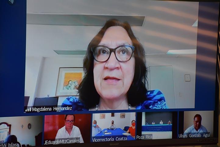 La secretaria Académica, Magdalena Hernández Alarcón, explicó que el 88.5 por ciento de los cursos concluirán con éxito