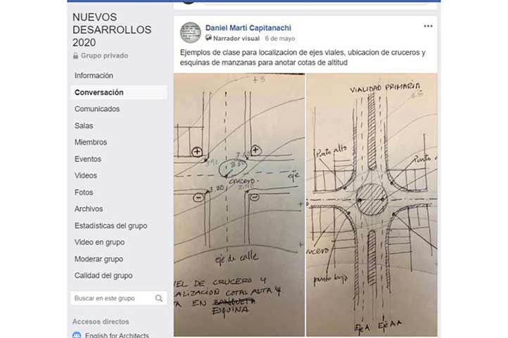 Académicos y estudiantes se comunicaron a través de Facebook